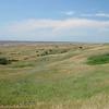 The South Dakota prairie in Badlands National Park.
