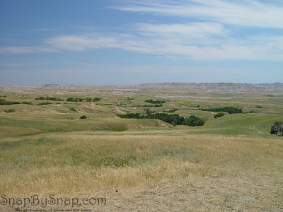 The South Dakota prairie in Badlands National Park.