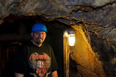 Bubba in Broken Boot Gold Mine, Deadwood, SD