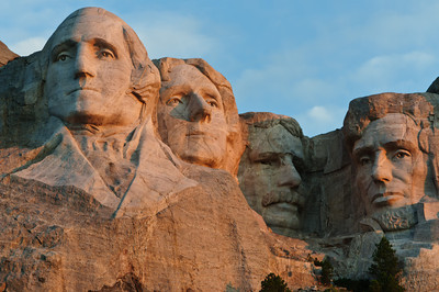 Mount Rushmore National Memorial - early morning light