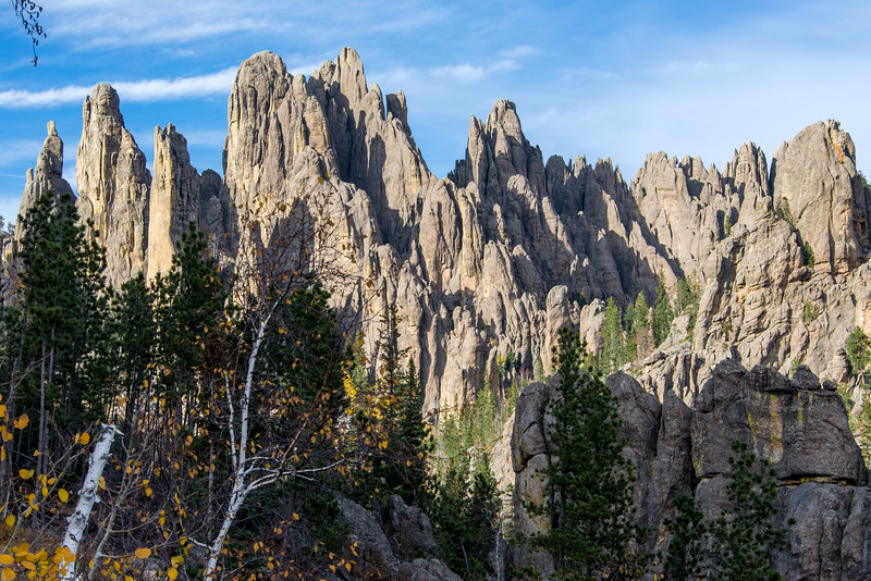 View of Needles in Custer State Park, South Dakota - October 2014