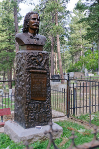 Wild Bill Hickok's memorial at Mount Moriah Cemetery