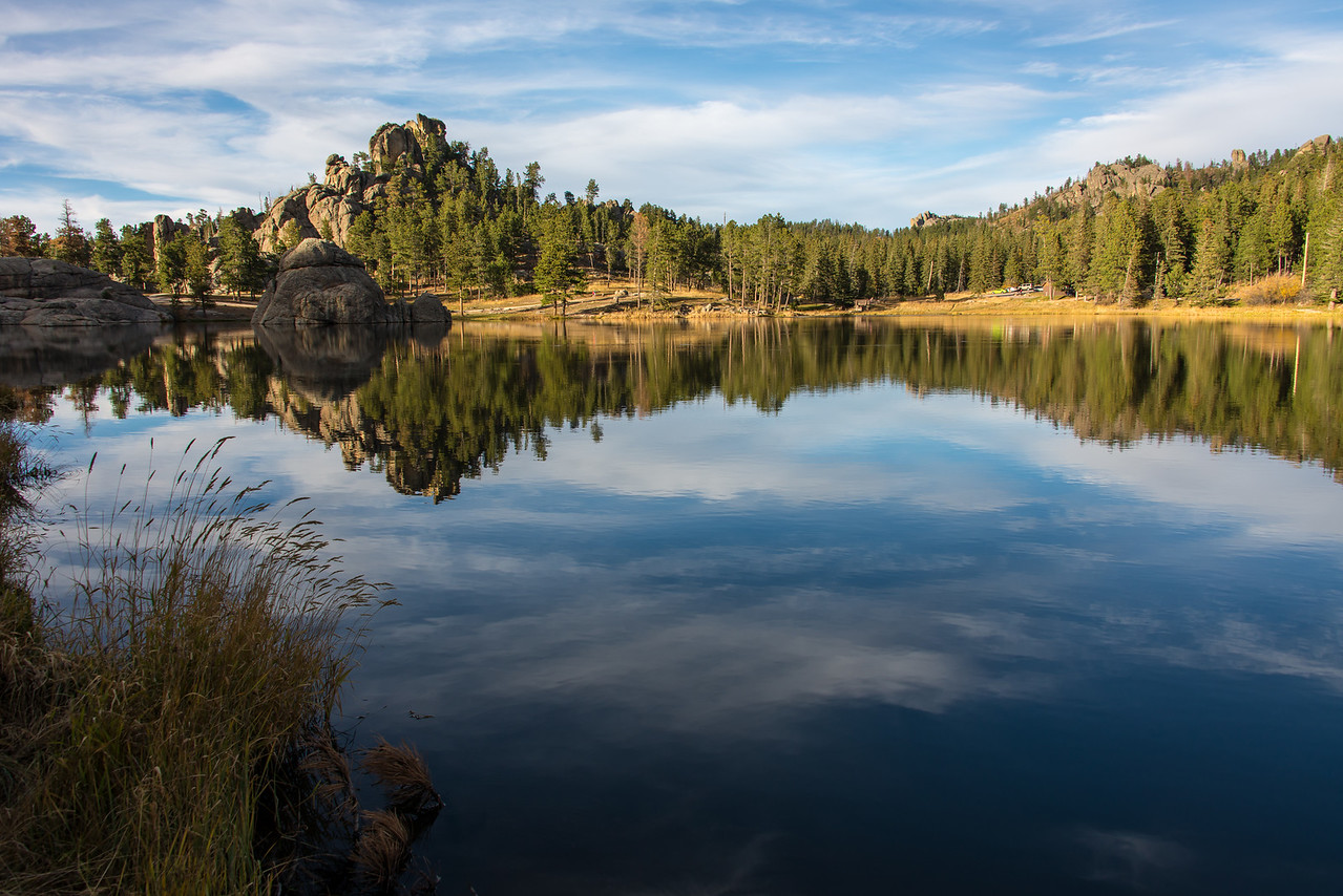 Sylvan Lake in Custer State Park, South Dakota - October 2014