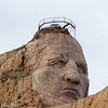 Detail of the face of Crazy Horse.
