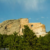 Distant view of Crazy Horse Memorial.