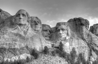 Mount Rushmore - Black and White HDR