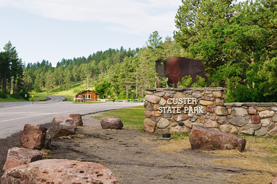 Entrance to Custer State Park, SD