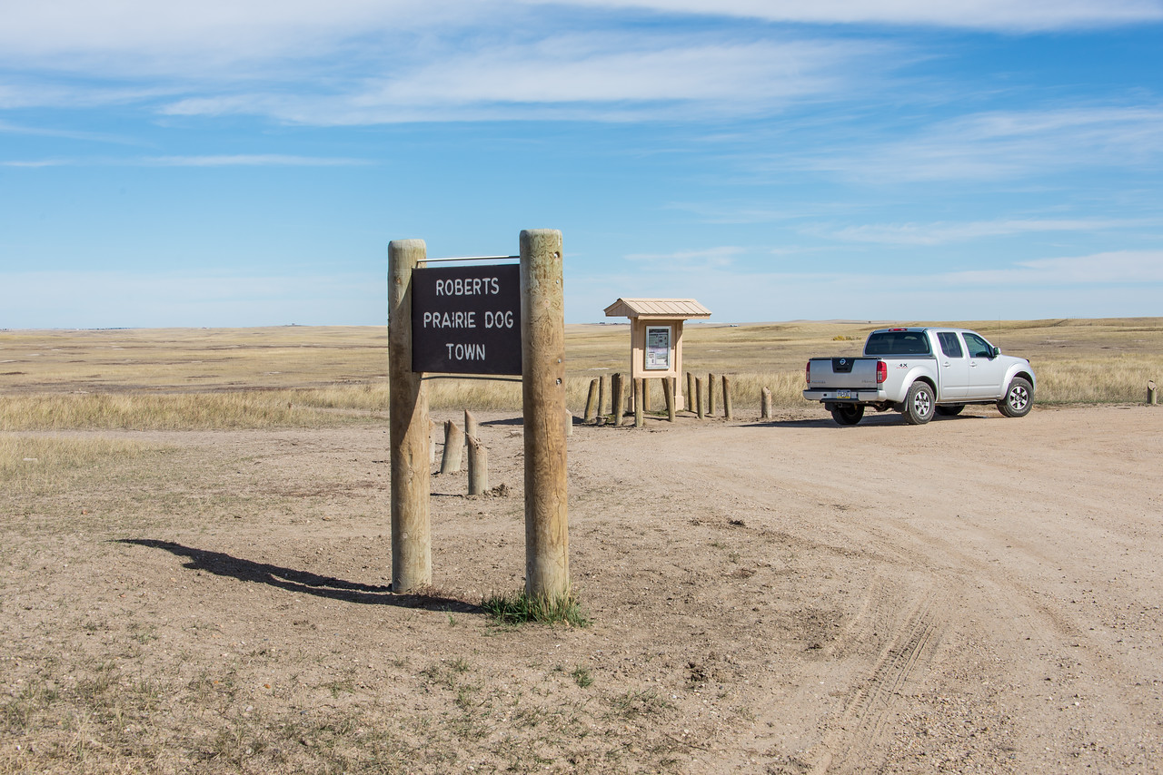 Roberts Prairie Dog Town in Badlands National Park, South Dakota - October 2014
