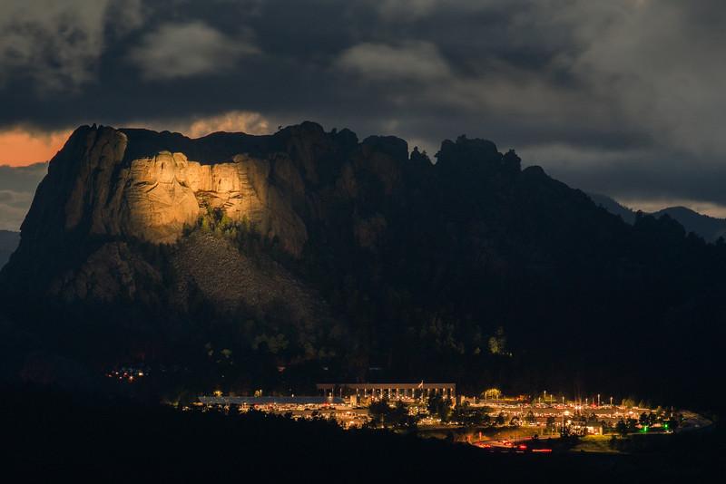 Stormy Mount Rushmore