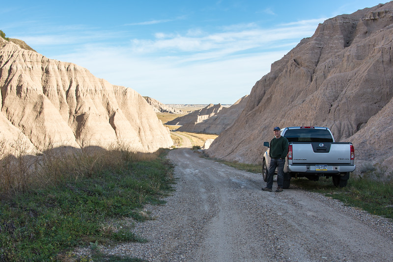 View from Sheep Mountain Road near Badlands National Park, South Dakota - October 2014