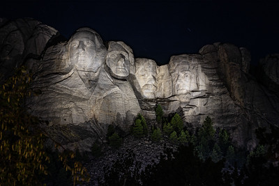 Mt. Rushmore, night