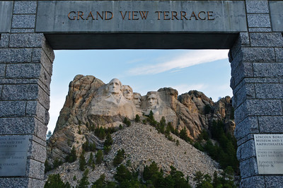 Mount Rushmore framed by the Grand View Terrace
