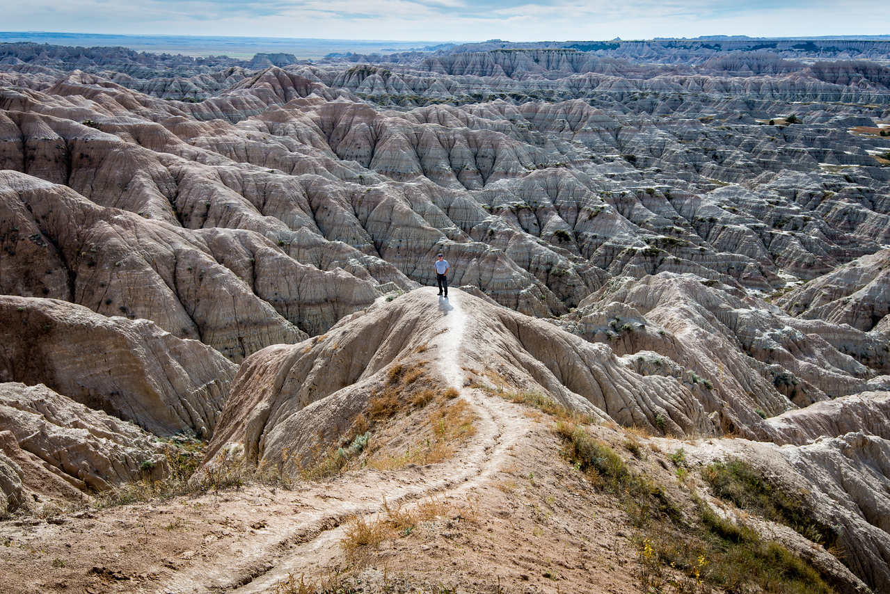 Hay Butte Overlook in Badlands National Park, South Dakota - October 2014