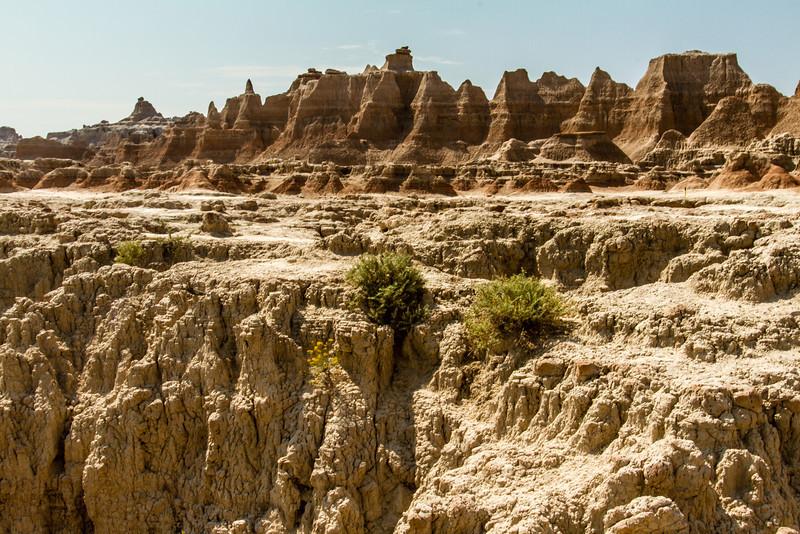 Badlands- rugged terrain.