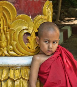 A young monk at the monastery.