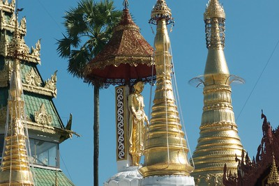 A walking buddha and more spires.