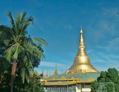 The Golden Pagoda during the day.