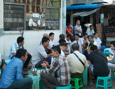 Yangon afternoon tea.  These tea shops are a major part of the culture.