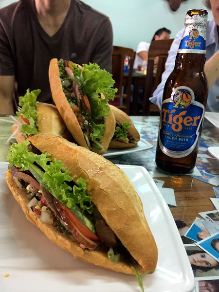 The notorious Banh Mi - Hoi An is said to have the best in Vietnam. We had this one at a restaurant where Anthony Bourdain ate - Bánh mì Phượng