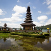 Pura Ulun Danu Bratan temple on a lake in Bali, Indonesia.