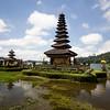 Pura Ulun Danu Bratan temple on a lake in Bali, Indonesia.