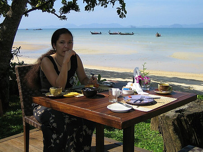 Breakfast at the Tubkaak resort