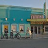 Key West iconic theater with statue of Marilyn Monroe in front.