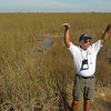 Howie explains the fauna and fresh water flow in the Everglades,<br />  January 19, 2015.