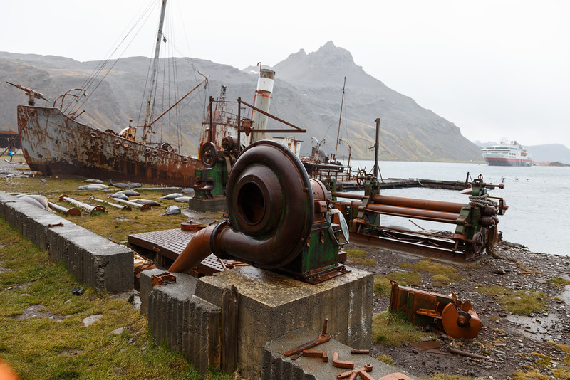 Grytviken, South Georgia islands on cruise with Fram