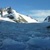 Brash ice before the glacier.