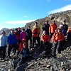 Our group at the pass before descending to Stromness