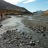 The braided gravel river bed of the Shackleton Valley