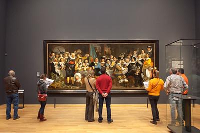 Painting Militia Banquet - The Celebration of the Peace of Münster, artist Bartholomeus van der Helst, Rijks museum, Amsterdam, Netherlands