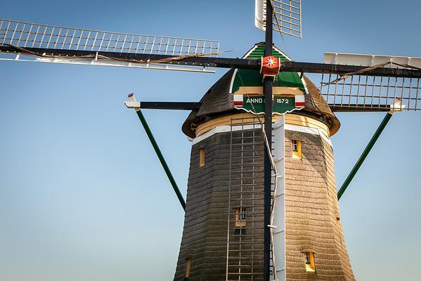 Detail of windmill near Leidschendam, South Holland, Netherlands