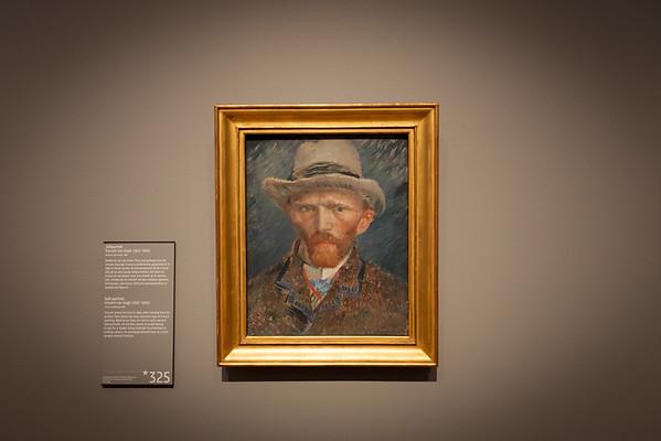 Self-portrait - Vincent van Gogh, Rijks museum, Amsterdam, Netherlands