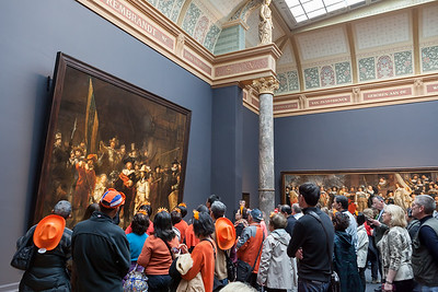 The Night Watch painting from Rembrandt, Rijks museum, Amsterdam, Netherlands