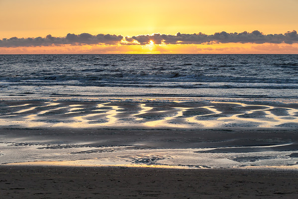 Sunset over North Sea, Netherlands