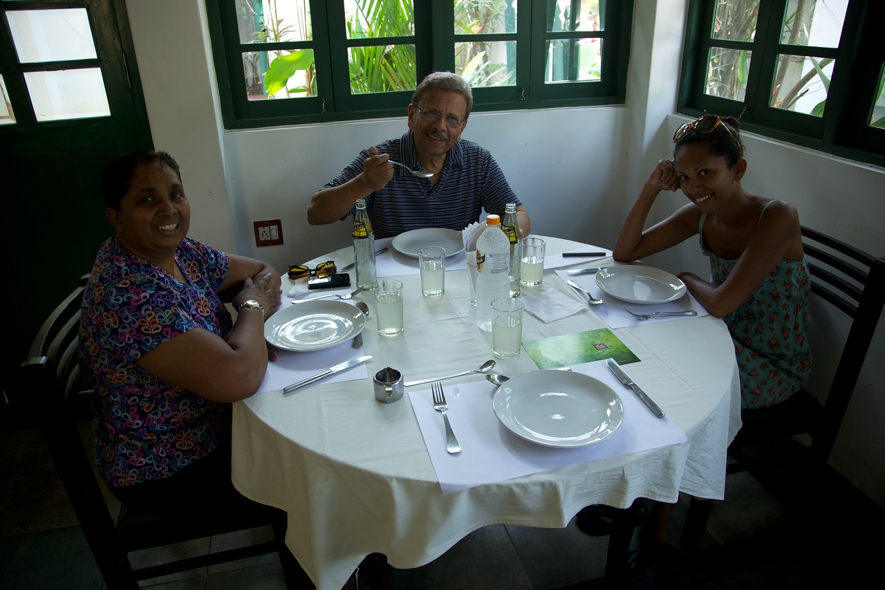 First meal in India.  Once the food arrived it was one of the best meals we had in Kerala
