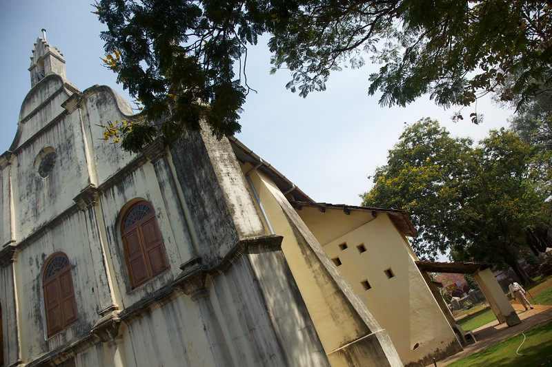 Dutch church in Kochin.  Vasco de Gama's arrival in India in 1498 opened Kerala up to European colonialism bringing the Portuguese, Dutch and English into Kerala.