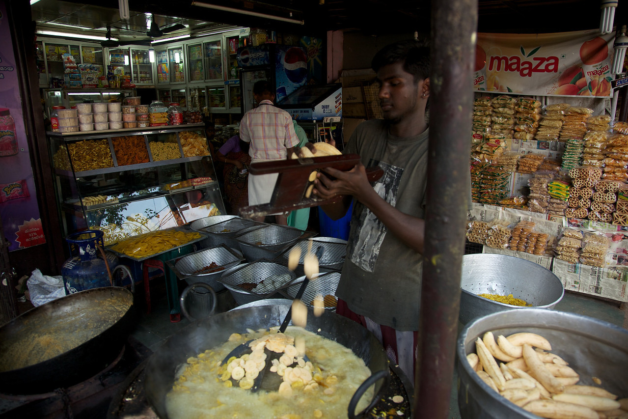 Banana chip stall