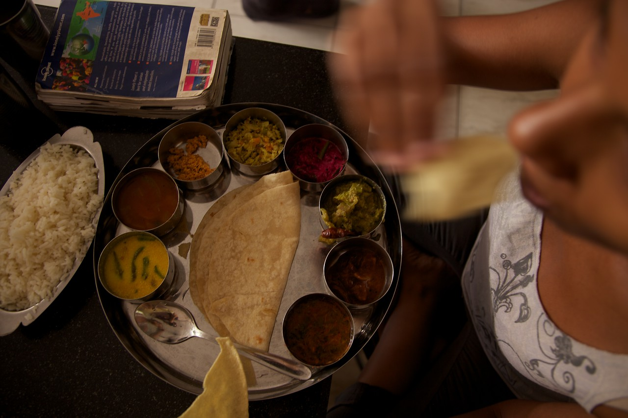 Traditional Indian thali.