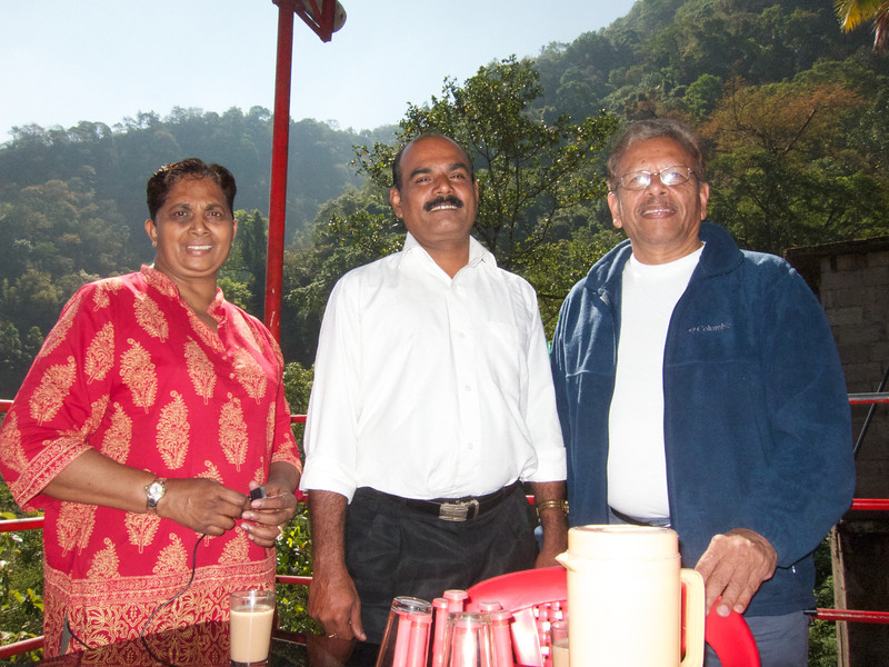 Mom and dad with George (our driver during our time in Kerala)