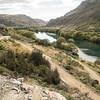 Switch backs on the Roxburgh Gorge trail along the Clutha Mata-au river