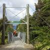 Reservoir Creek Swing Bridge West Coast Wilderness Trail