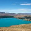 Tekapo Township and Lake Tekapo from Mt John