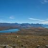 Lake Tekapo and Lake Alexandrina from Mt John