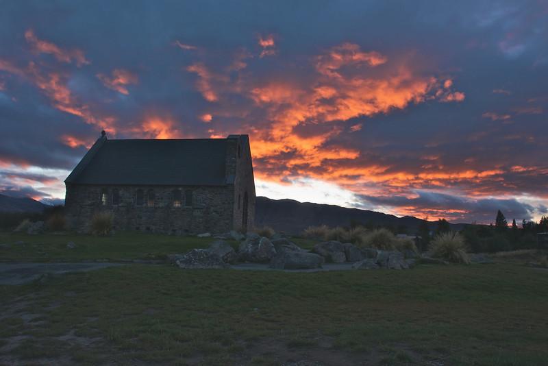 Church of the good sheperd Lake Tekapo early morning