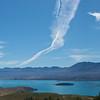 Jet Contrail over Lake Tekapo taken from Mt John
