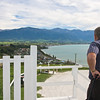 Looking down from Kaikoura lookout