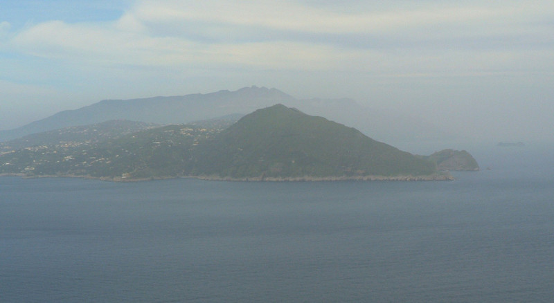 View of the mainland from Villa Jovis